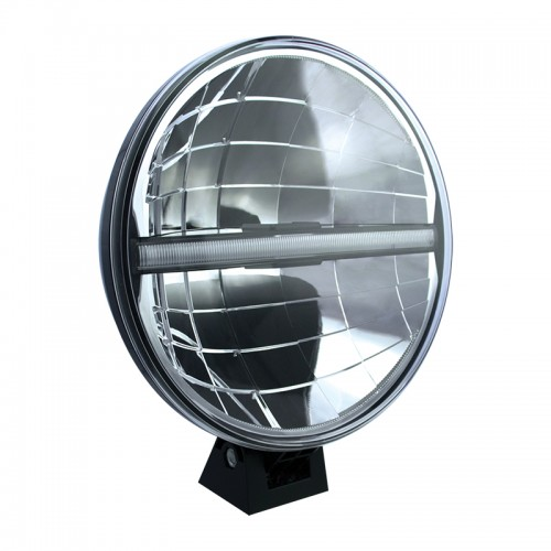 "LED Autolamps 9"" Round LED Driving Lamp with Integrated Front Position Lamp"