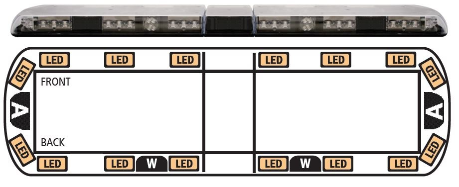 ECCO 12 Series Vantage LED Recovery lightbar