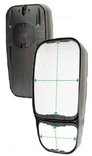 7135 Series Dual Split Mirror Heads