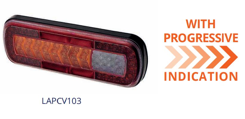 LAP rear lamp with progressive indicator
