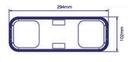 LAP CV104 square rear lamps