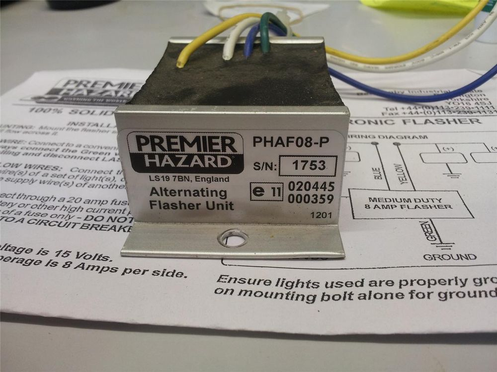 Premier Hazard PHAF08P flasher unit