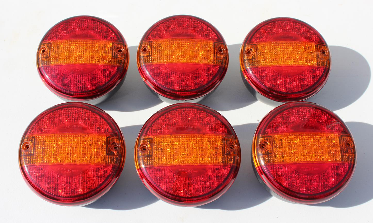 6x Britax L14 LED single rear combination lamps