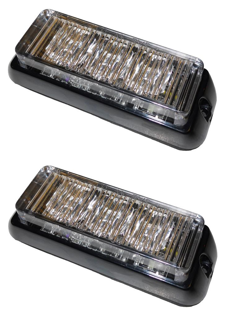 Pair LAP LED3DV amber LED warning lights