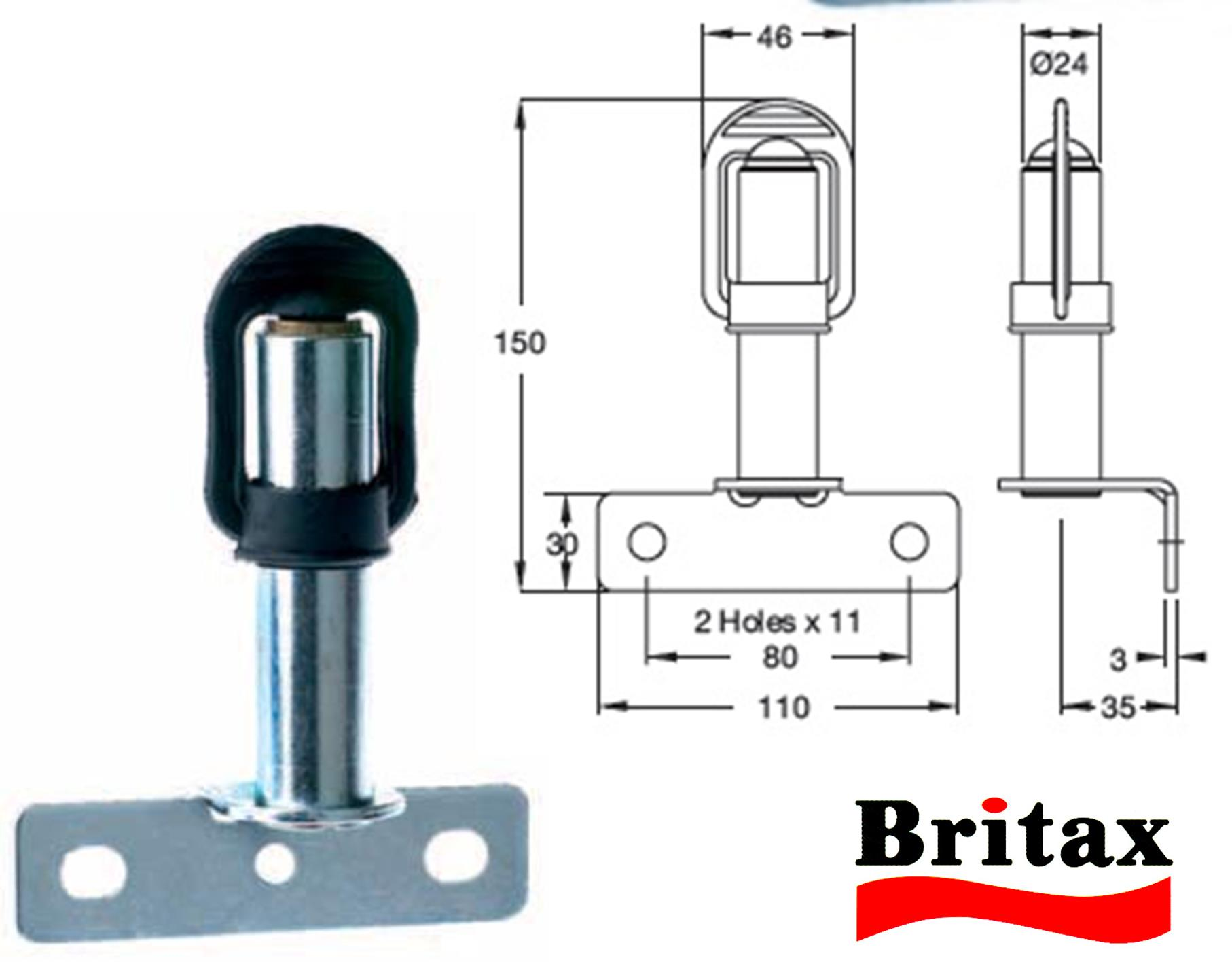 Britax DIN Plug-In Adaptor Socket